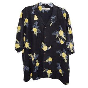 Tommy Bahama Silk Floral Hawaiian Shirt XXL